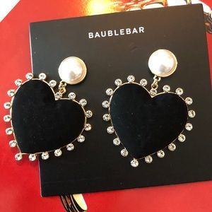 "BaubleBar Large Heart Earrings Brand NEW 3"" by 2"""